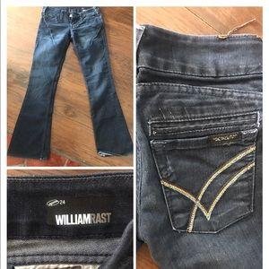 William Rast hip hugger flares bell bottoms 24